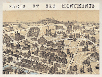 CRT634-Paris monumental map